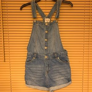 Cute denim overall shorts